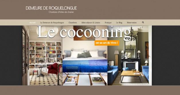 Demeure de Roquelongue – Site web Chambres d'hôtes